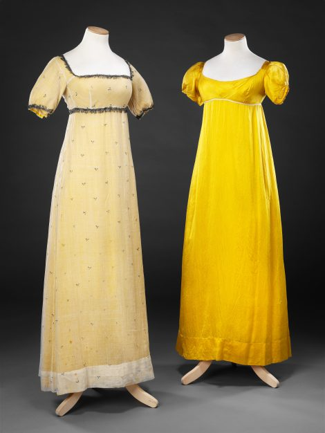 Dress c. 1810 and Underdress c. 1815