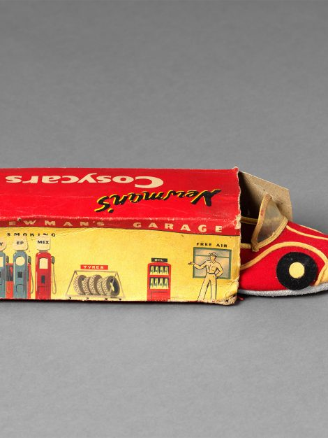 Child's Slippers and Shoebox